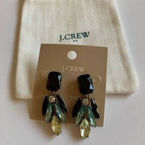 J Crew Peacock Feather Earrings